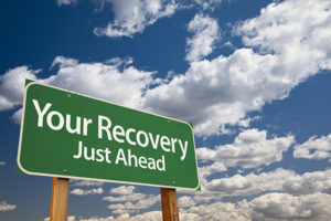 Green Recovery House Sign
