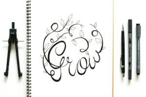 addiction compassion calligraphy