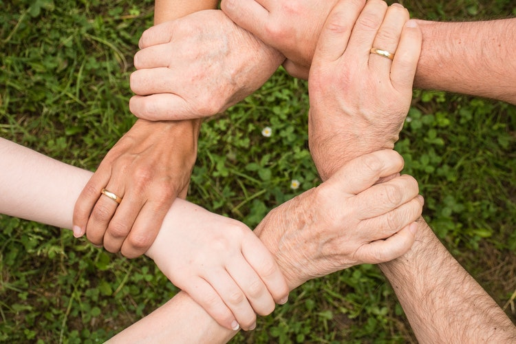 Group of Sober People Holding Hands