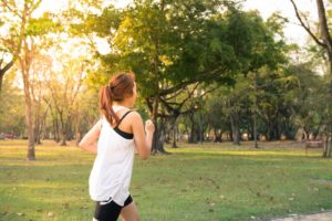 Woman Running for Healthy Immune System